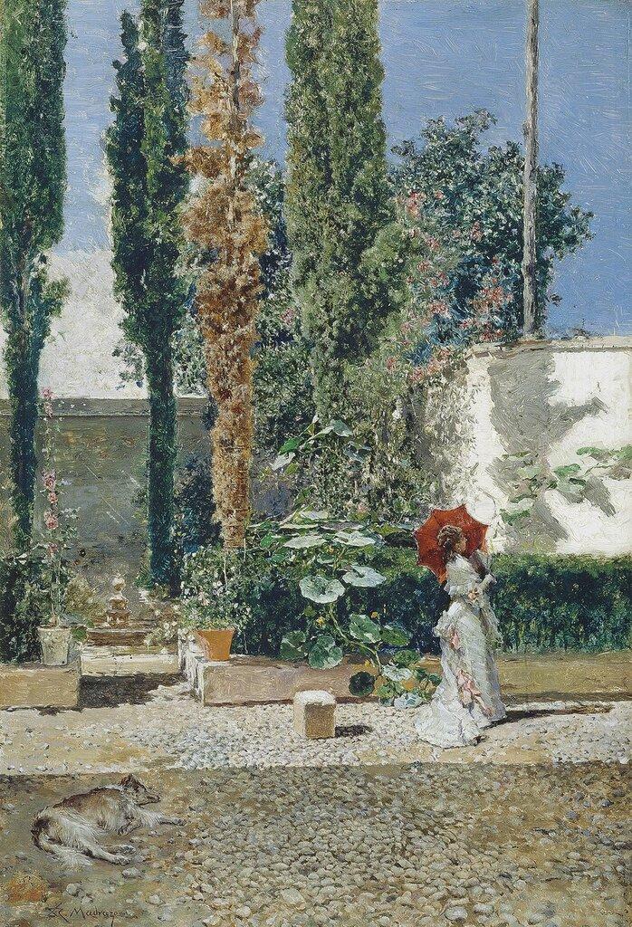 Сад дома Фортуни. 1872 и 1877. 40 х 28 см. масло, дерево. Мадрид, музей Прадо.jpg