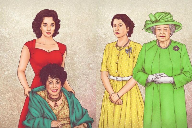 Знаменитости тогда и сейчас в иллюстрациях Фульвио Обрегона