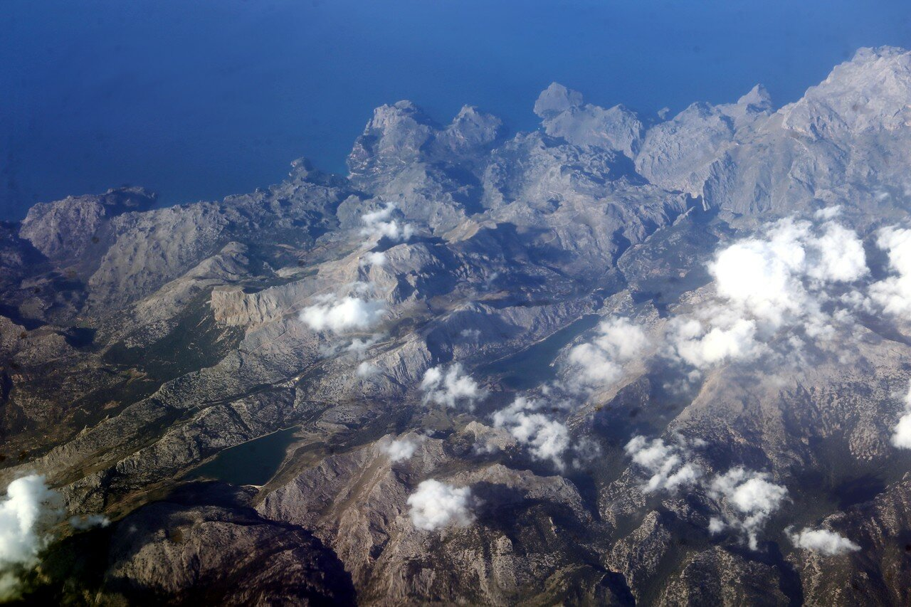 Northern Mallorca, the mountains. Aerial view