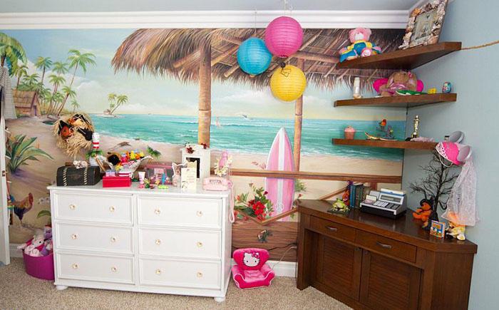 9. Детская спальня в тропическом стиле