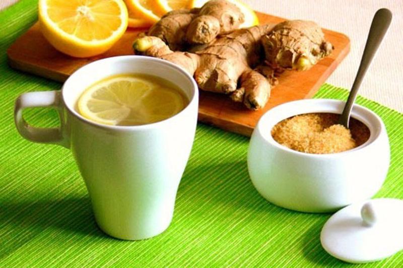 8. Имбирный чай с лимоном. Поможет в холодные осенние дни, укрепит иммунитет и повысит вашу работосп