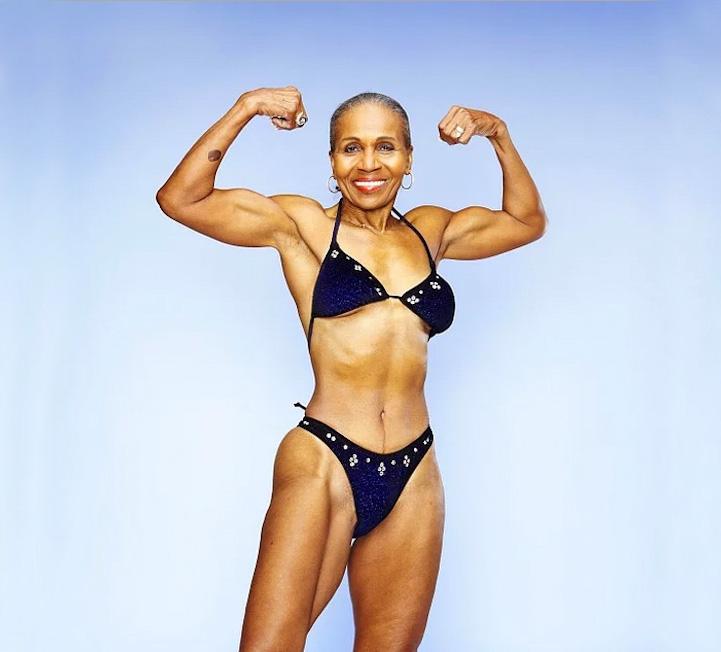 Восьмидесятилетняя спортсменка весит 59 килограммов при росте 167,5 сантиметров. Содержание жира в е