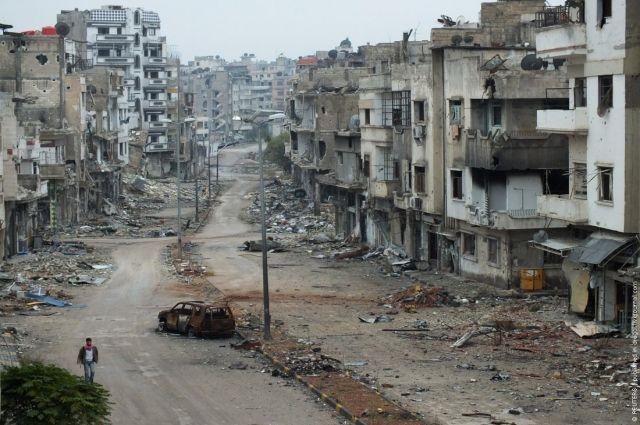Белый дом: гумконвой под Алеппо разбомбили русские Су