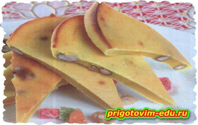 Коврижка с арахисом и шафраном