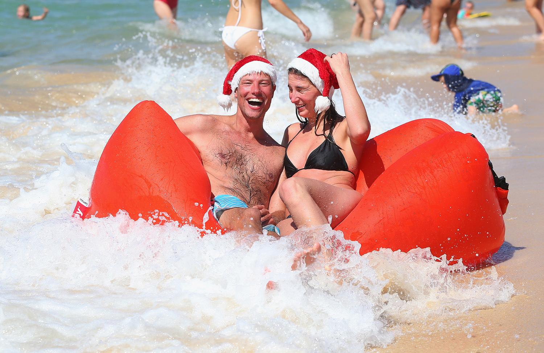 Гости из Амстердама явно в восторге от австралийских новогодних традиций.