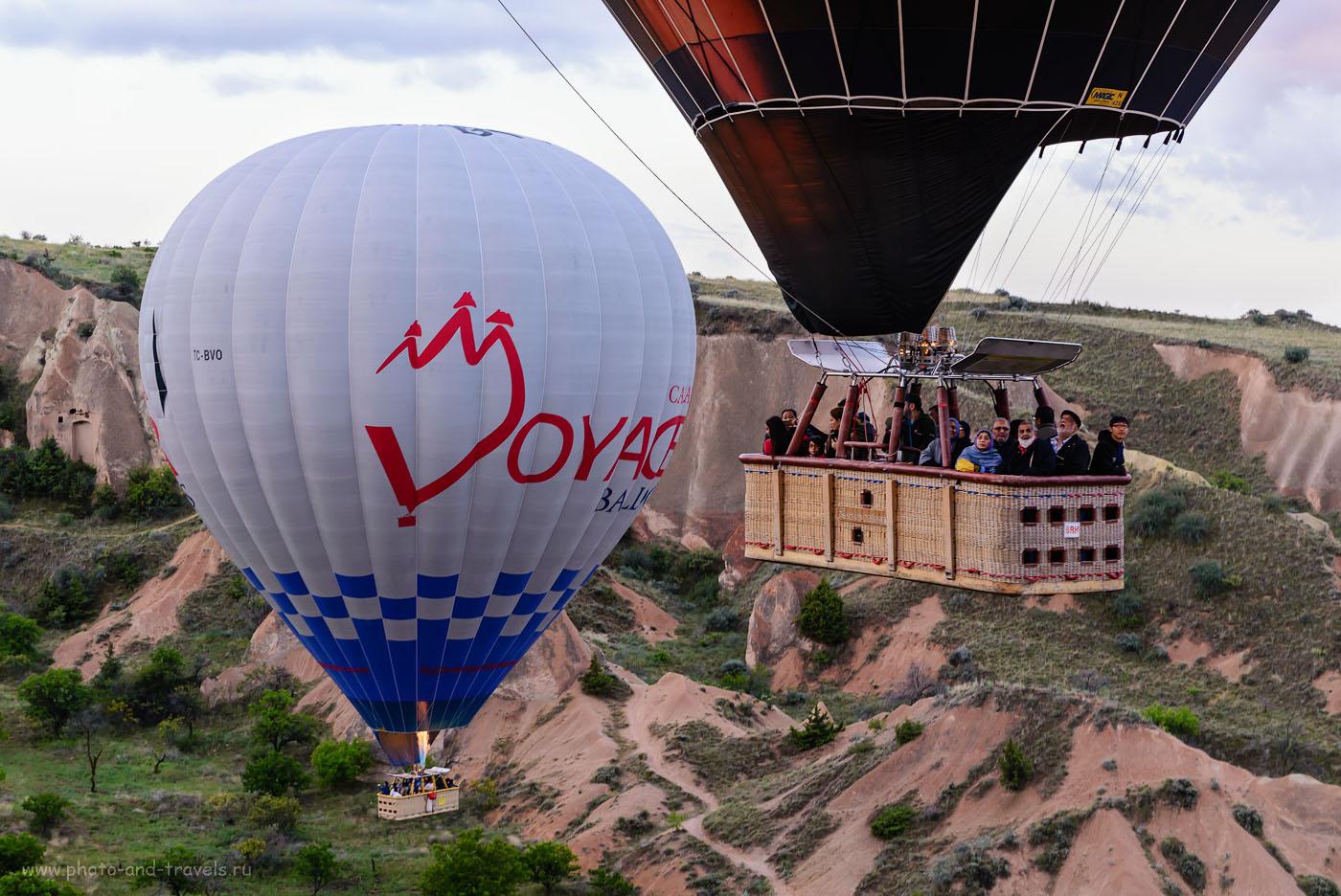 Фото 9. Туристы в корзине воздушного шара. Полет над Каппадокией. Отчет об отдыхе в Турции самостоятельно. 1/30, -0.67, 8.0, 800, 58.