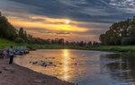 Закат на реке Вологда