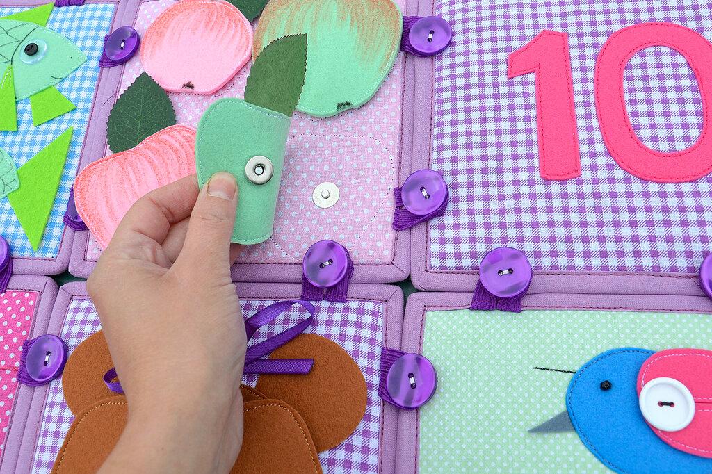 кубики покрывало подушка комплект в детскую салатовый сиреневый (14).JPG