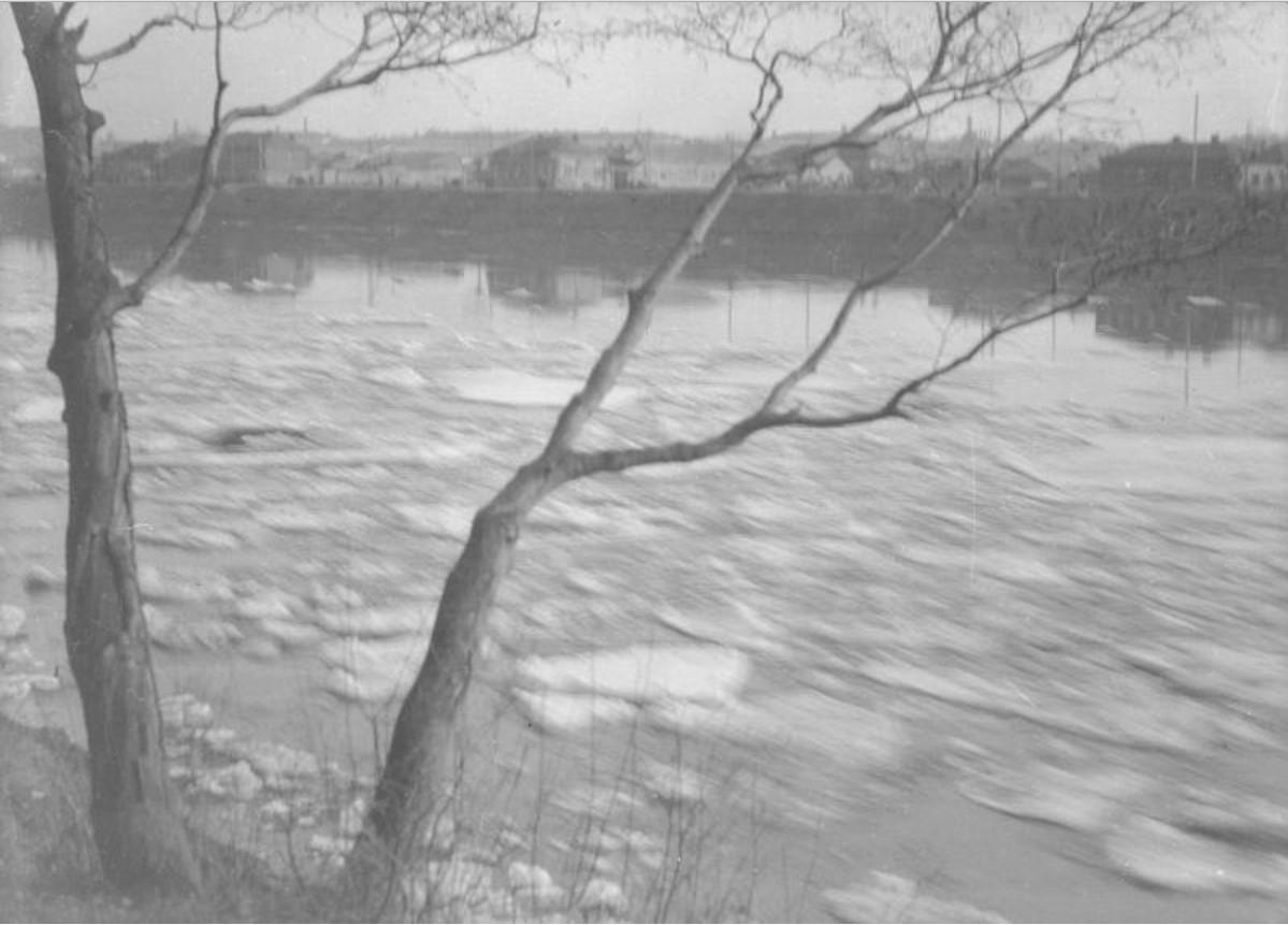 Москва. Ледоход у Нескучного сада. 1928