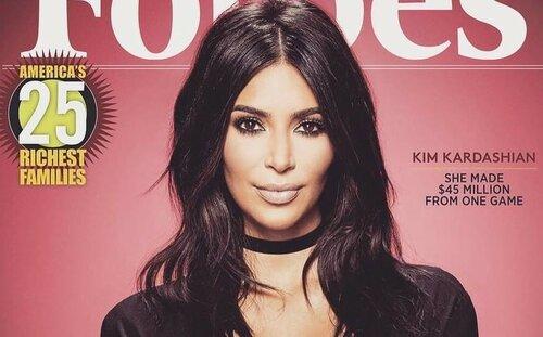 "Ким Кардашьян украсила обложку журнала ""Forbes"""