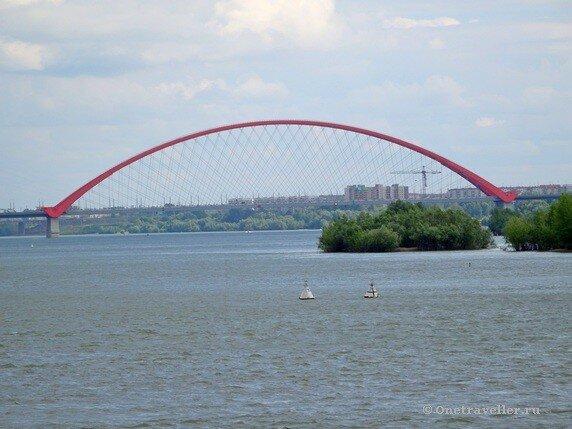 Новосибирск. Бугринский автомобильный мост с самым большим в СНГ арочным пролётом