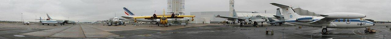 Музей авиации и космонавтики в Ле Бурже. Панорама