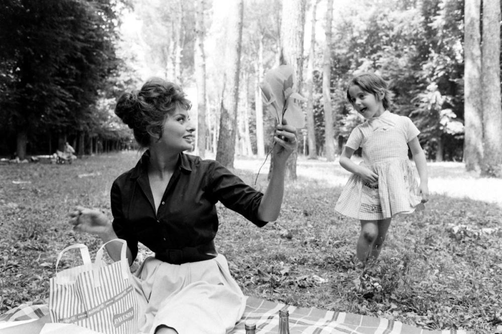 3. Софи Лорен на отдыхе, 1961 г.