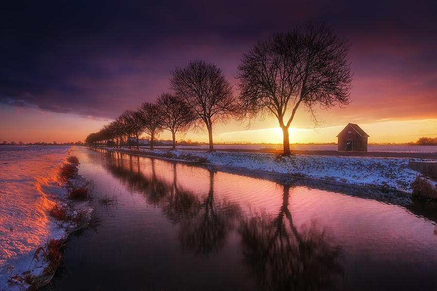22.Краски голландской зимы.