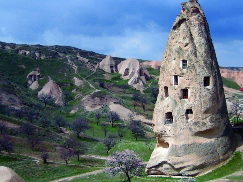 14. Домики в пещерах, Каппадокия, Турция