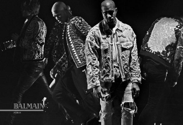 Supermodels + Kanye West & Kim Kardashian as FW16 ?#?BALMAINARMY?
