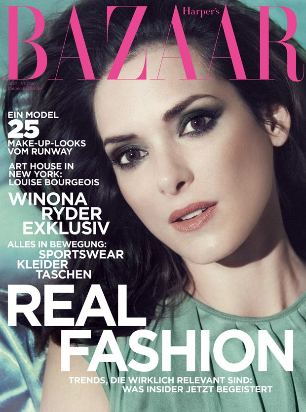 Stranger Things superstar Winona Ryder takes the cover story of Harper's Bazaar Germany 's Aug