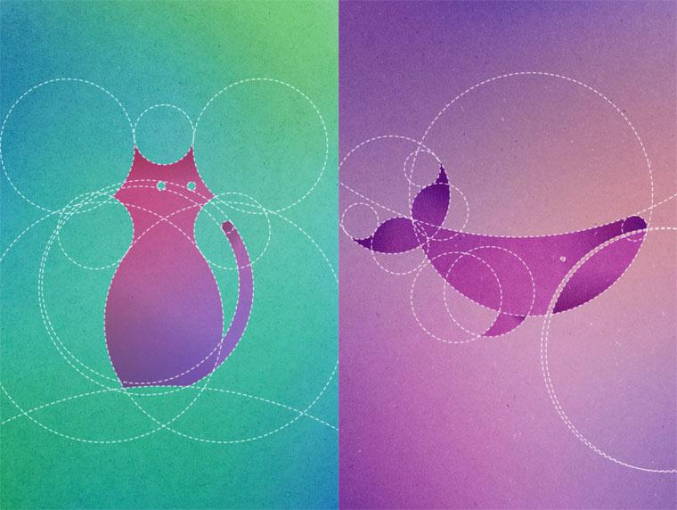 13 animals made from 13 circles (14 pics)
