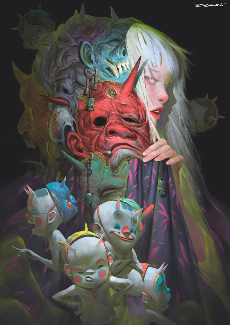 Disguise - The dark and fascinating illustrations by Zeen Chin