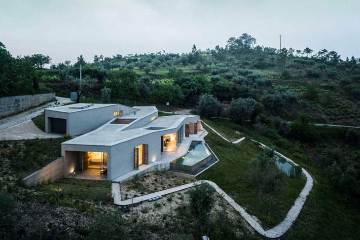 Camarim designed this contemporary residence located in Penela, Portugal, in 2014. Take a look at th