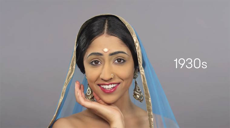 100 years of beauty in one minute – The evolution of style in India