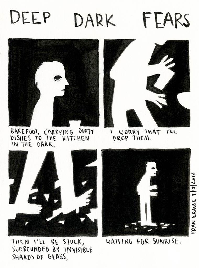 Deep Dark Fears - Un illustrateur met en scene les plus grandes peurs des gens