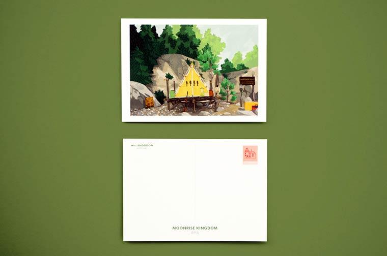 Des cartes postales en hommage aux lieuxcultes des films de Wes Anderson