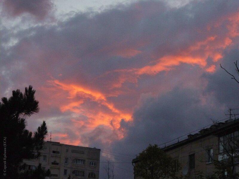 Закат в моем районе