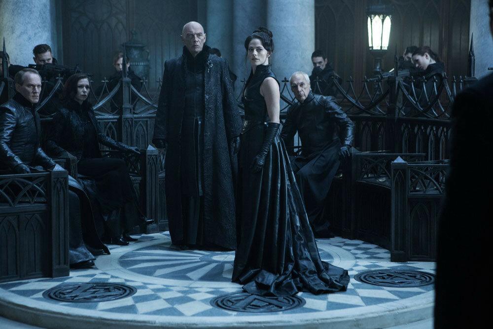 James Faulkner (center-left) and Lara Pulver (center-right) star in Screen Gems' UNDERWORLD: BLOOD WARS.