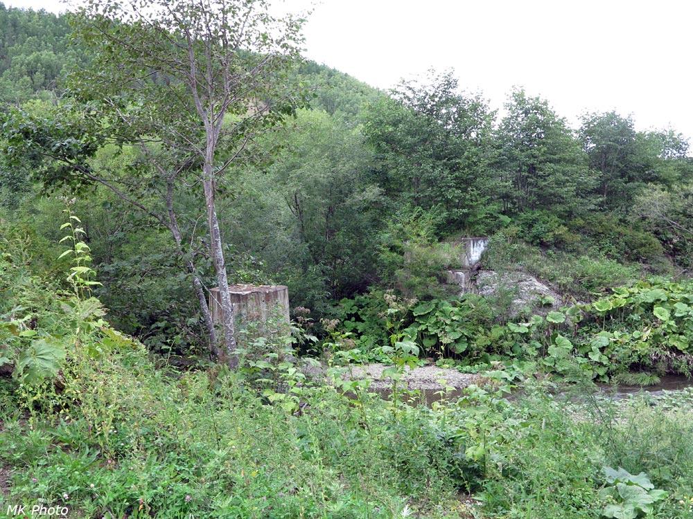 Разрушенный мост через р. Ожидаевская