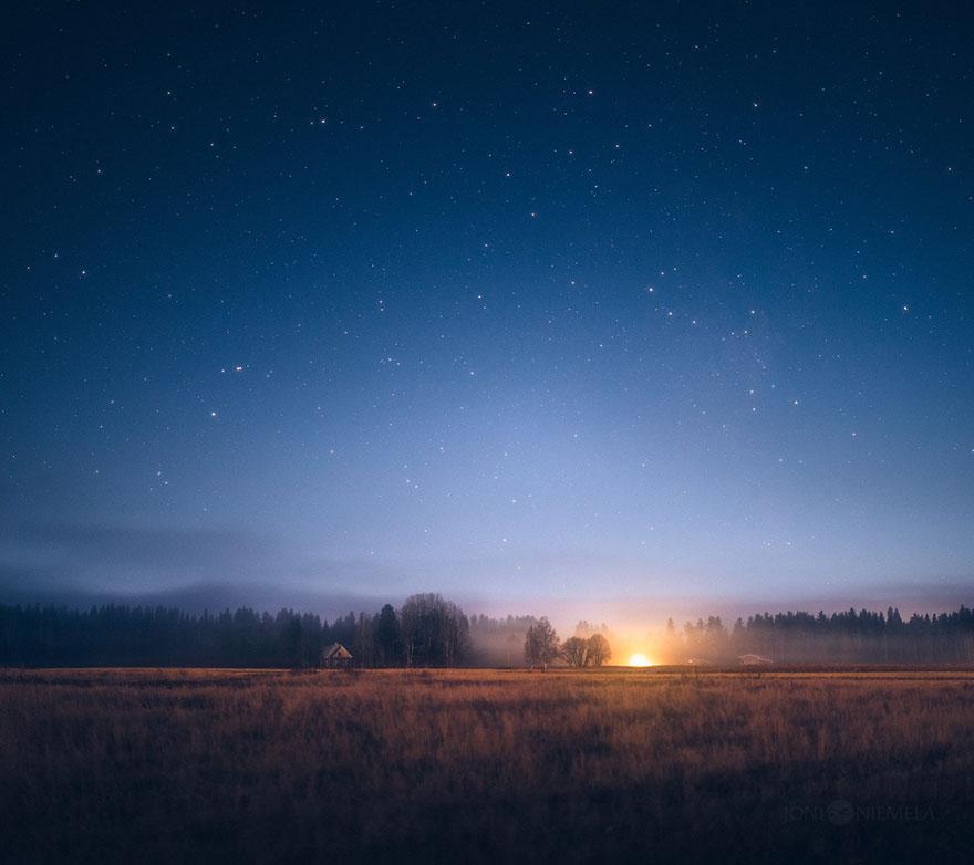 Ночное небо Финляндии