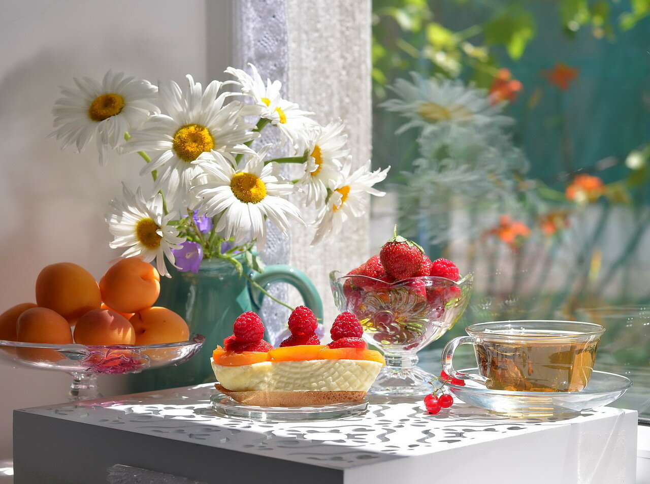 Чай на даче с ароматами лета