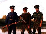 Отец и сыновья. Река Медведица, приток Дона. 1999 г..jpg