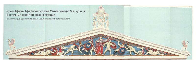 Храм Афина Афайи на острове Эгине, реконструкция восточного фронтона