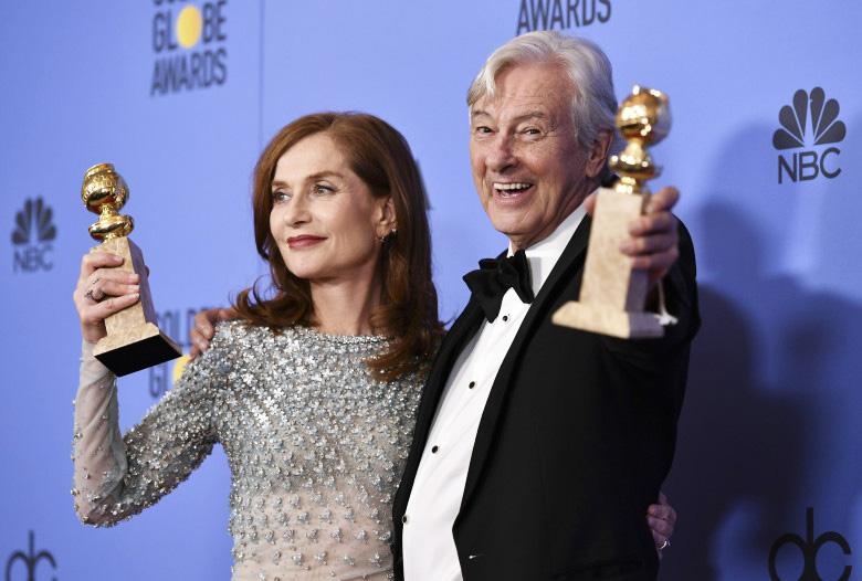 Изабель Юпер получила «Золотой глобус» зароль вкартине «Она»