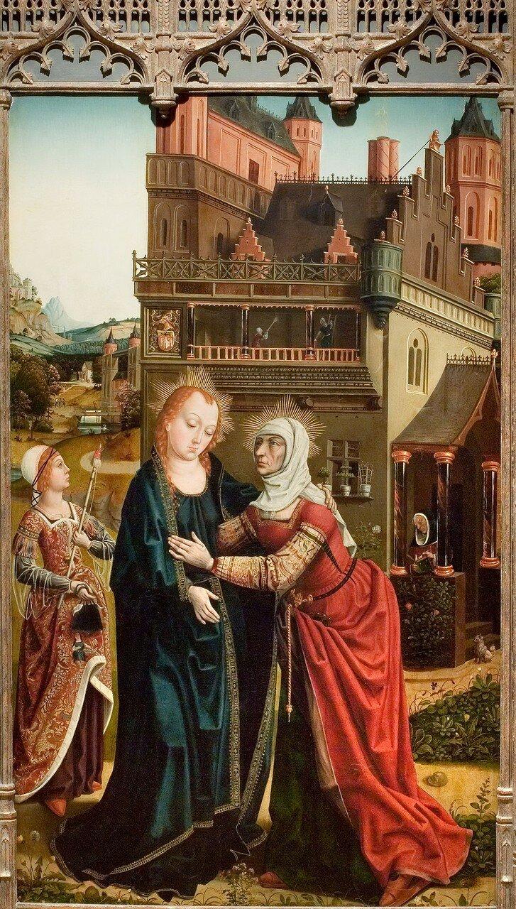 Встреча Девы Марии и Елизаветы (1496-1497) (Тусон, Музей искусств университета Аризоны).jpg