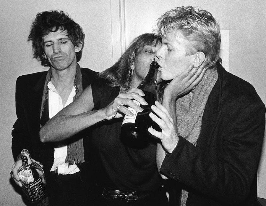 10. Кит Ричардс, Тина Тернер и Дэвид Боуи, 1983.