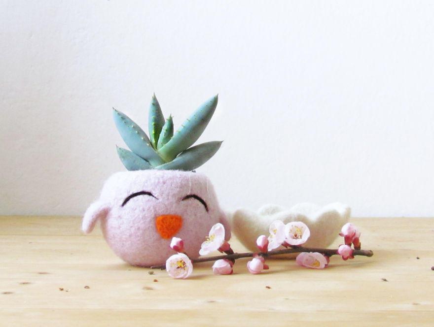Превратите цветочные горшки в милых животных