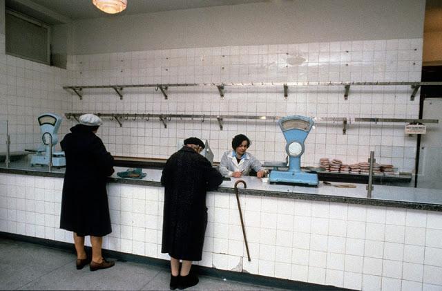 Мясной магазин, Варшава, 1981 год.