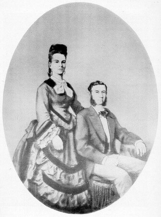 Свадебный портрет Иды и Исидора Штраус. 3 апреля 1912 года Ида и Исидор взошли вместе на борт