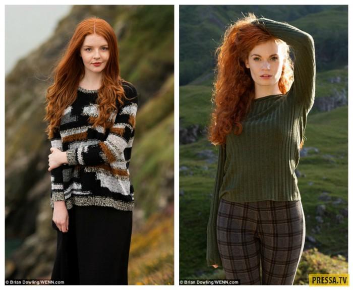 Кельтские красавицы: Грейс из Ирландии (слева) и Кристи из Шотландии.
