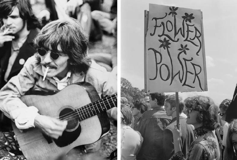 Полиция задержала юного последователя философии хиппи, 1969 год.