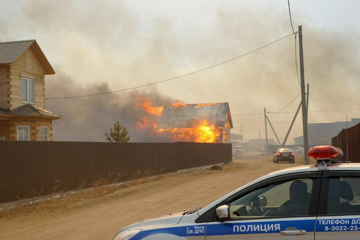Лесные пожары в России (21 фото)
