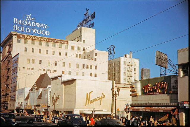 Голливудский бульвар, 1940-е годы.