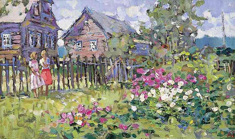 Alexander Tioutrine Дом в деревне.jpg