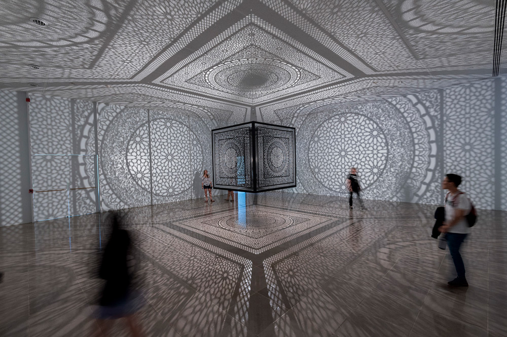 Anila Quayyum Agha's 'Intersections' Sculpture Installed at Rice Gallery (3 pics)