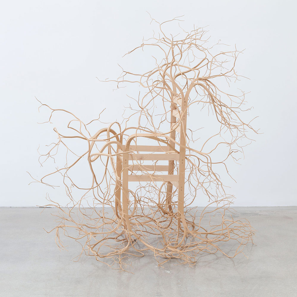 Wooden Furniture Sculpted by Pontus Willfors Sprouts Unwieldy Roots and Limbs (4 pics)