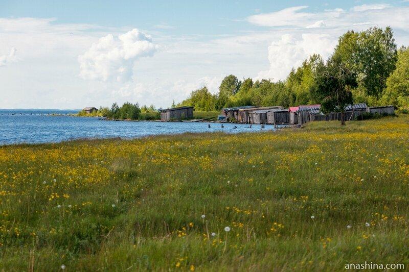 Лодочные сараи, Онежское озеро
