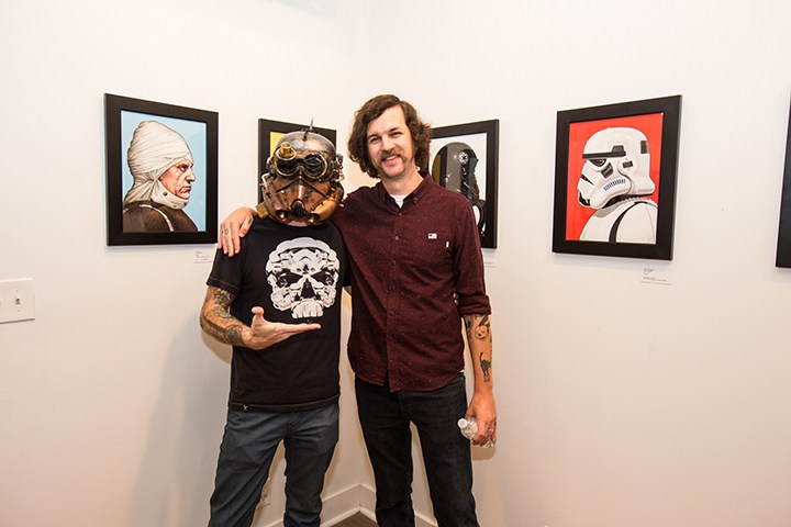 Pictures from the Star Wars art show by Mike Mitchell at the Mondo Gallery !