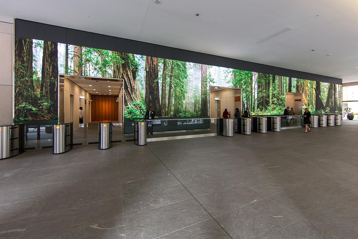 Salesforce Video Wall: Digital Art Installation by Obscura